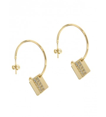 Gold Brass Stroili Earrings...