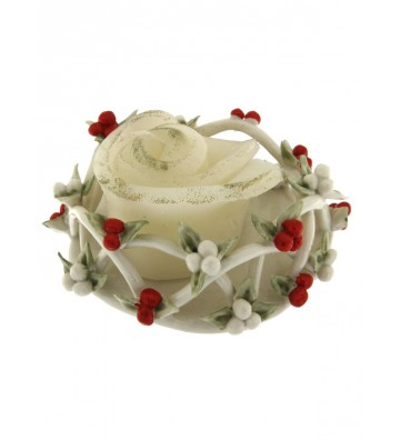Holly Porcelain Candle...
