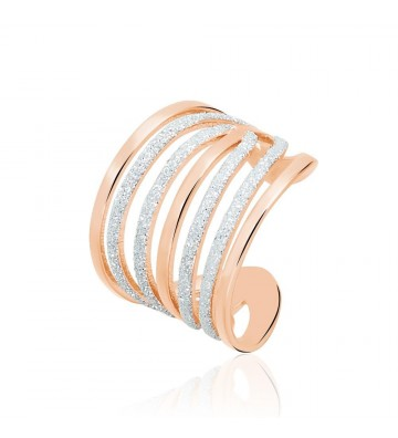 Stroili ring in pink brass...