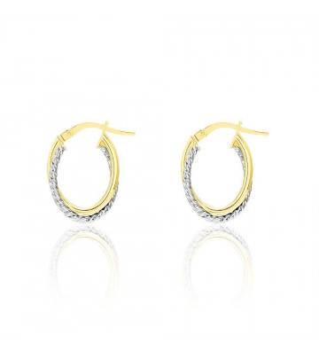 Stroili Two-tone gold hoop...