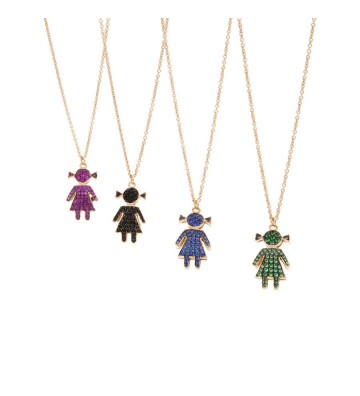 Silver necklace with Bimba...