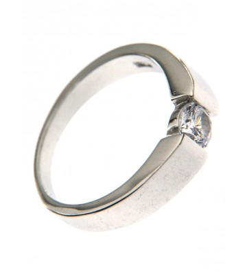 Silver Solitaire Ring...
