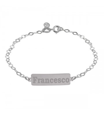Silver bracelet with...