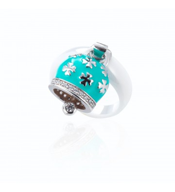 Ceramic and Silver Ring...