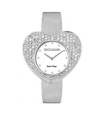 Boccadamo silver watch with...