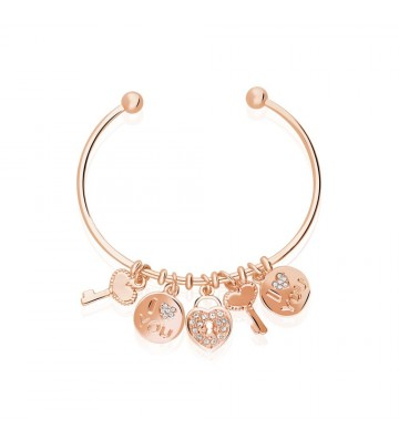 Bangle Stroili in metallo rosato e strass 1663338