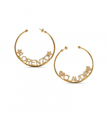 Hoop earrings with Name and...