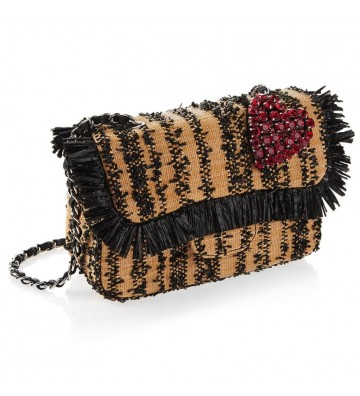 Clutch handbag in Rafia...