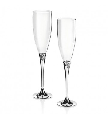 Pair flute chalices...