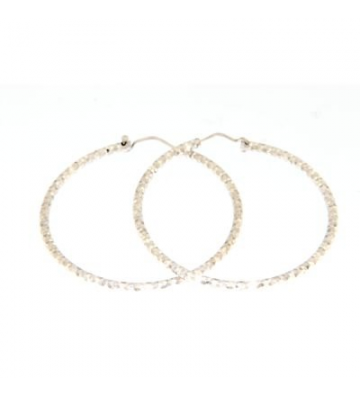 EARRINGS IN ARG.925 HOOP...
