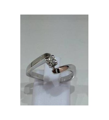 SOLITARY RING IN WHITE GOLD...