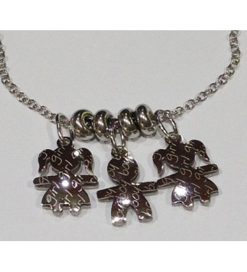 Chain with 3 customizable...