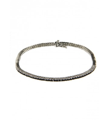 copy of Bracciale Tennis in Argento 925/000 Brunito Lunghezza 17 Cm