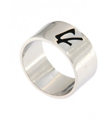 Wide Band Ring with Force...