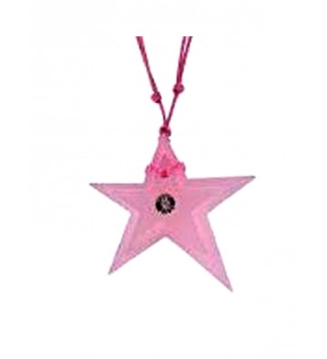 Pink Star pendant with...