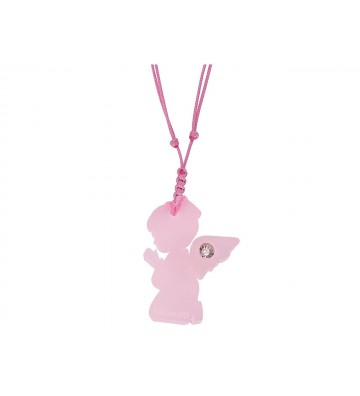 Pink Angel pendant with...