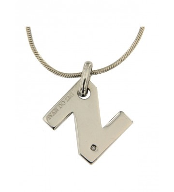 Steel necklace with Letter...
