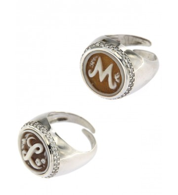 Silver ring 925/000 with...