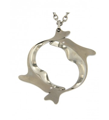 Metal Brosway necklace with...