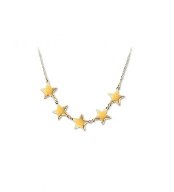 Gold necklace with 5 Stars...