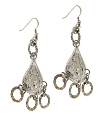 Earrings in Silver Antiqued...