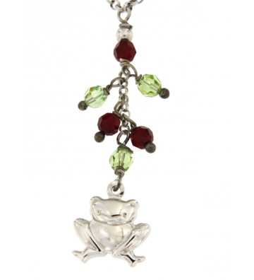 Collana in Argento 925/000 Garantito con Charms Rana e Pietre Colorate Fashionist Style❤ GFCLAR11