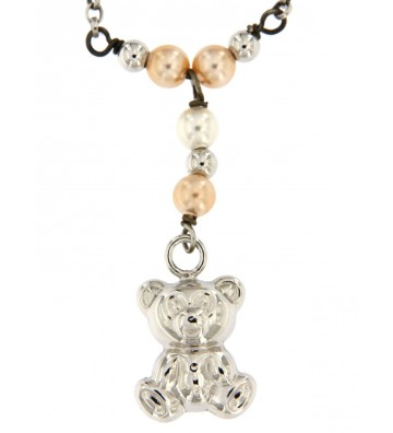Collana in Argento 925/000 Garantito con Charms e Pietre Colorate Fashionist Style❤ GFCLAR10/D