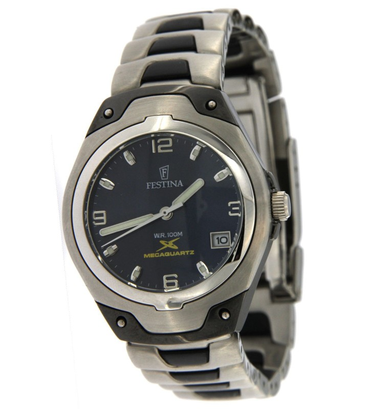 Watch Solo Tempo Woman Semi automatic mechanism with Steel case and Steel Strap with black Pvd inserts