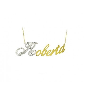 Gold necklace 18 K With...