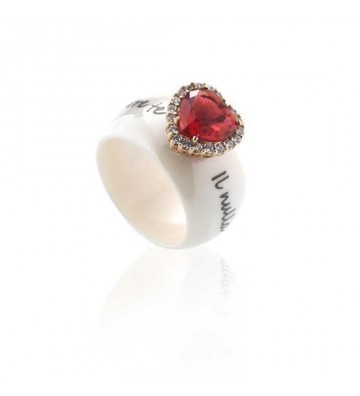 Ceramic Ring With Wide Band...